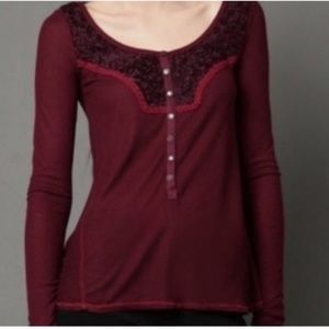 Free people Diego thermal Henley top
